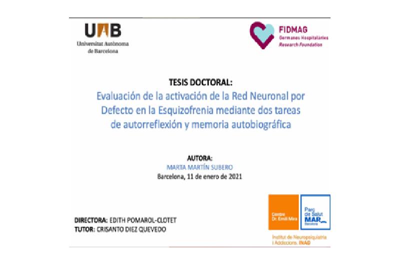 Lectura de tesi: Dra. Marta Martín Subero