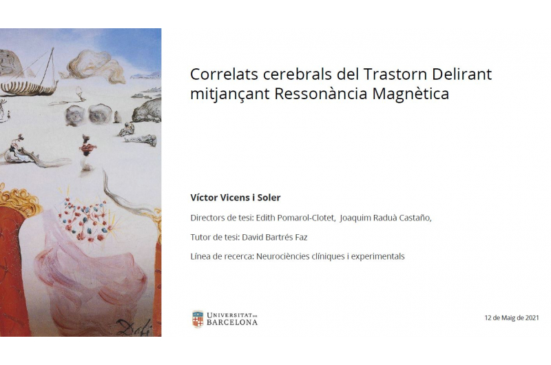 Lectura de tesi doctoral: Dr. Víctor Vicens i Soler